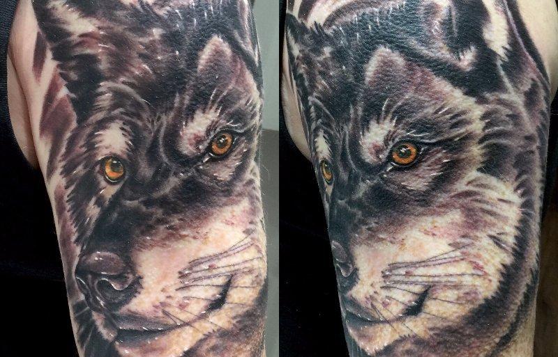 Tattoo of animal face