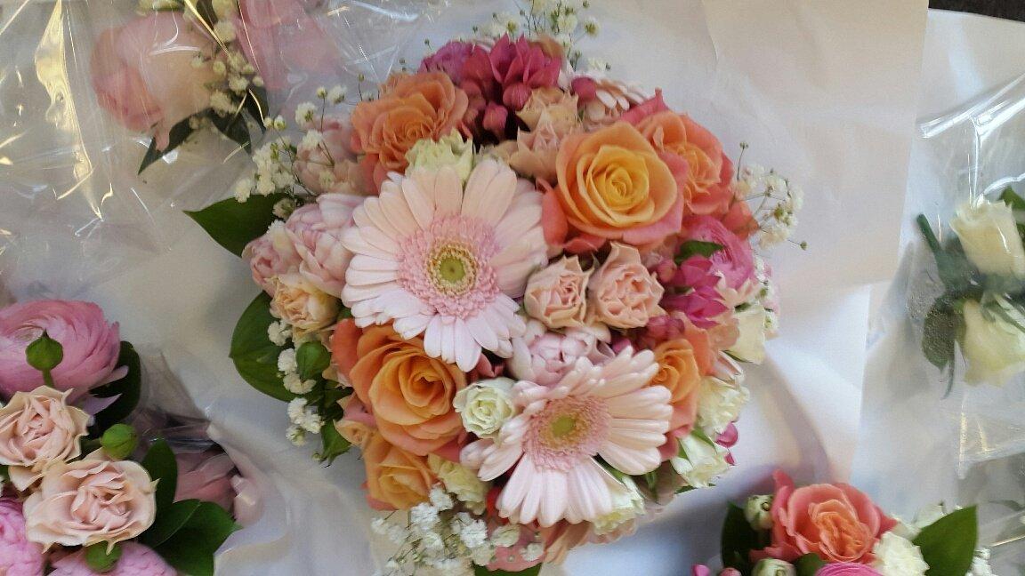multi-coloured bouquet