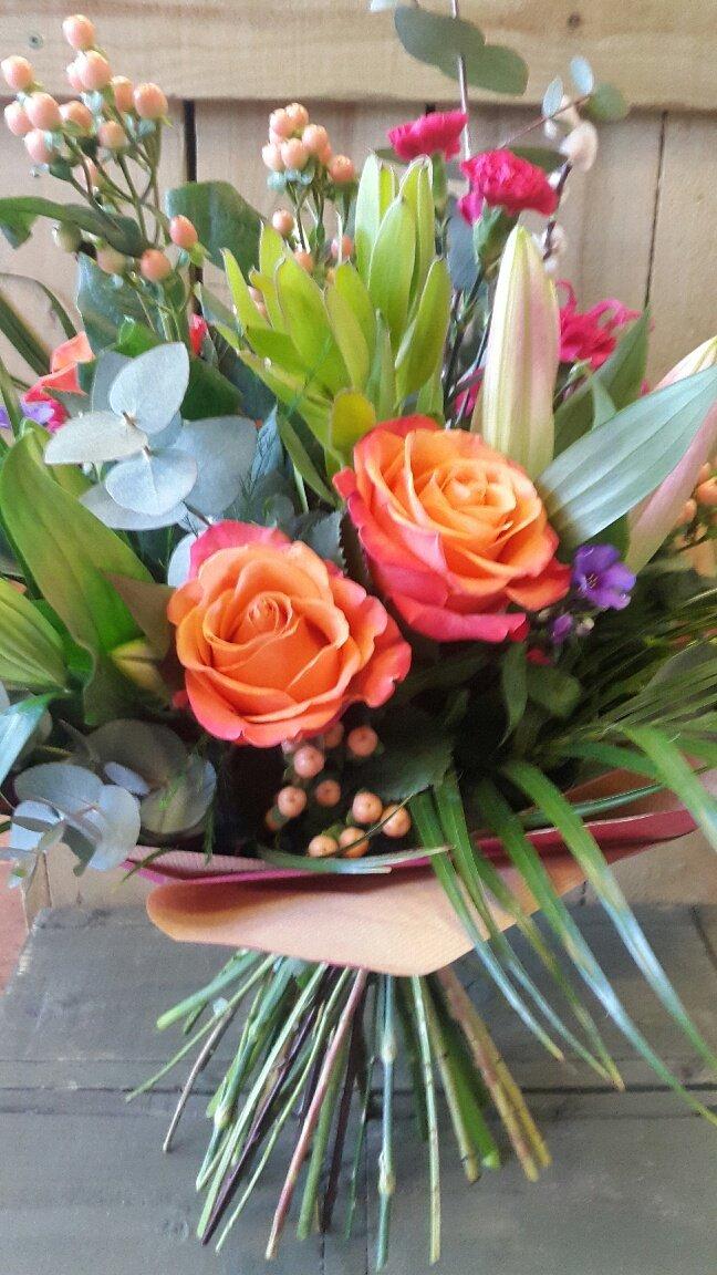 orange coloured rose
