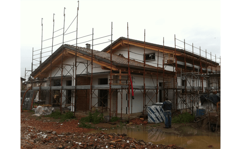 vista frontale cantiere
