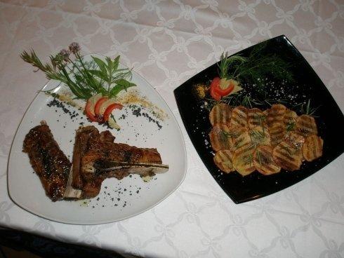 secondo  piatti bianco nero