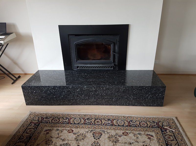 View of black color Fire Place Hearths