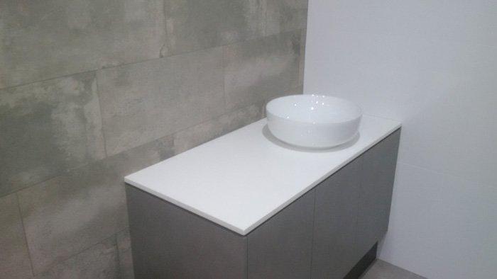 White color Stone Vanities