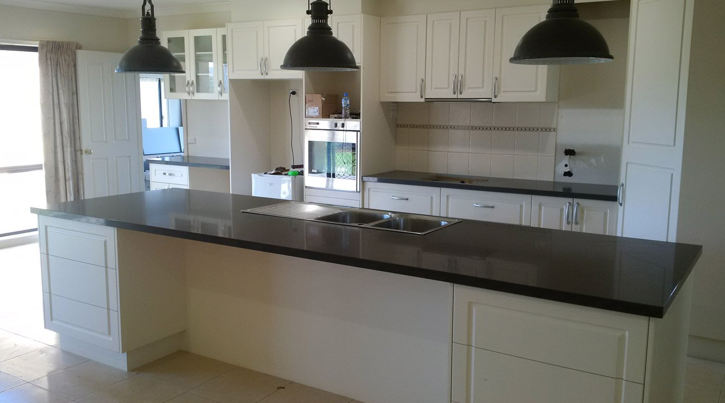 View of kitchen after renovation work