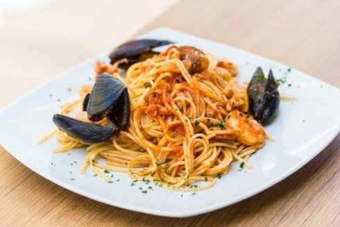 Spaghetti con cozze.