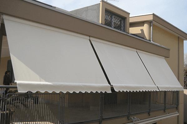 Foto ravvicinata di un parasole per esterni