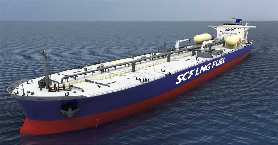 Hyundai Heavy Industries Group Order for LNG fueled Aframax Tankers