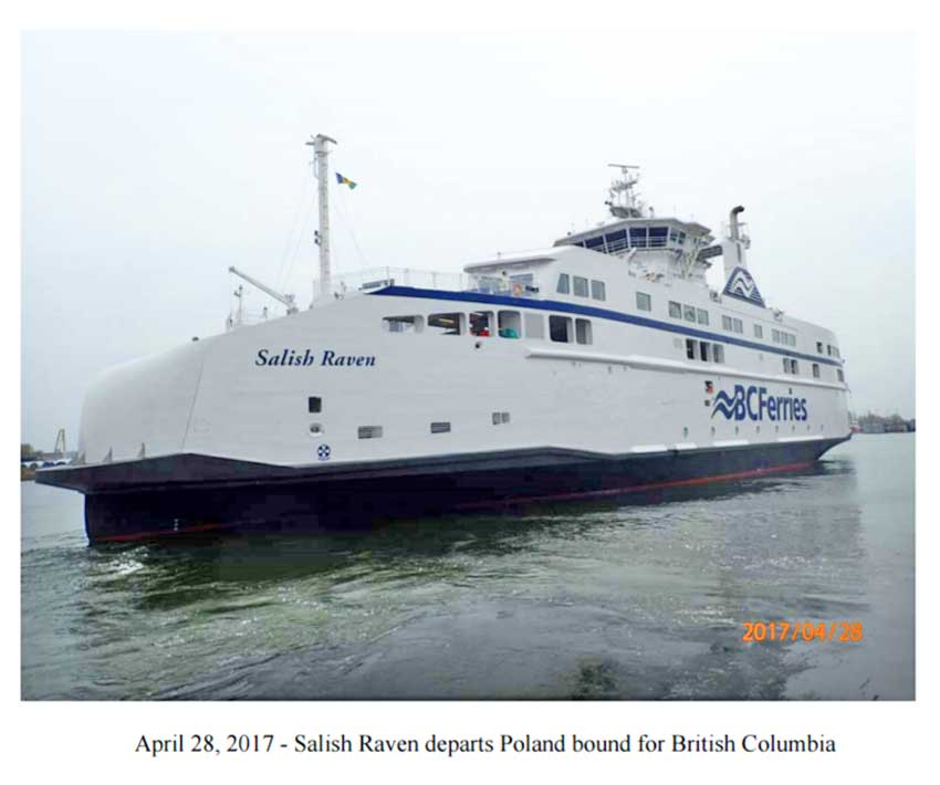 BC Ferries third LNG Ferry