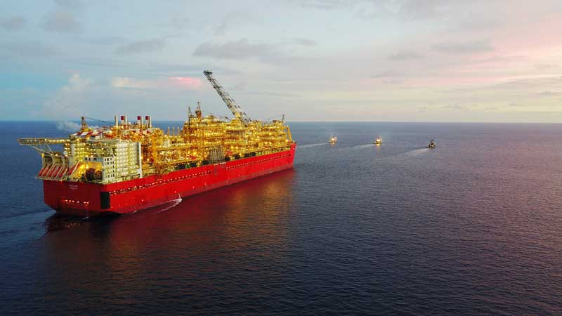 Prelude floating liquefied natural gas facility being towed to Australia Source: Shell