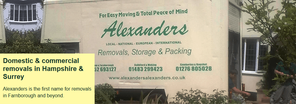 For office removals in Farnborough, Hampshire call 01252 693 127