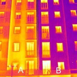 edifici con isolamento termico