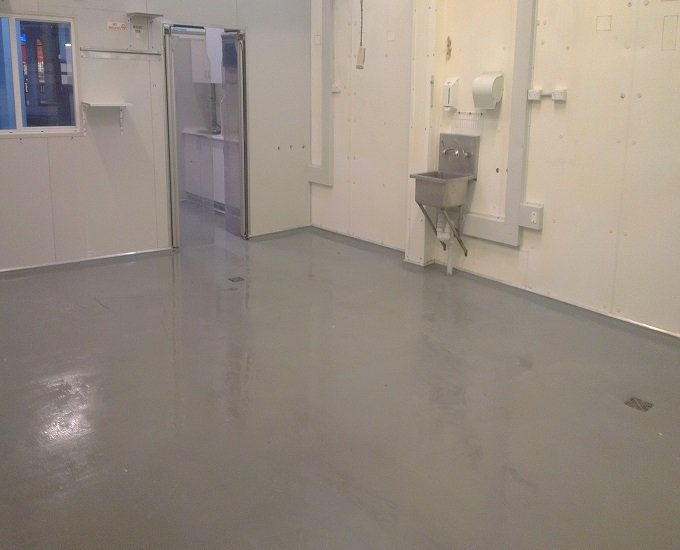 concrete floor & walls after