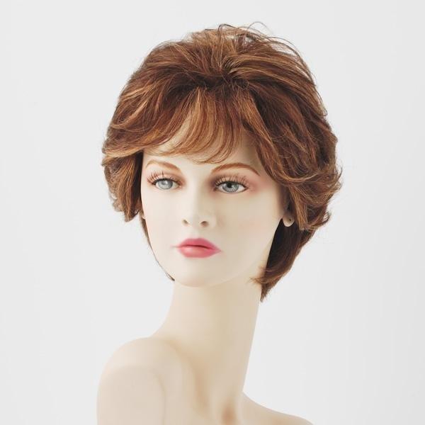parrucca capelli corti castana
