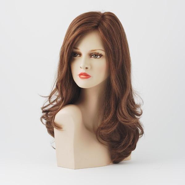 parrucca capelli clunghi castana