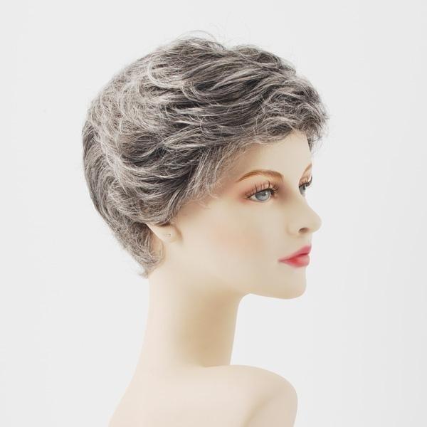 parrucca sintetica grigia