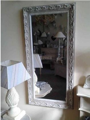 specchio romance shabby chic sabbia