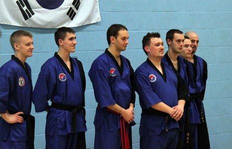 men dressed in karate