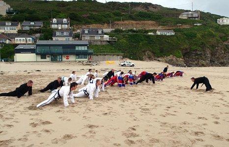 outdoor karate training