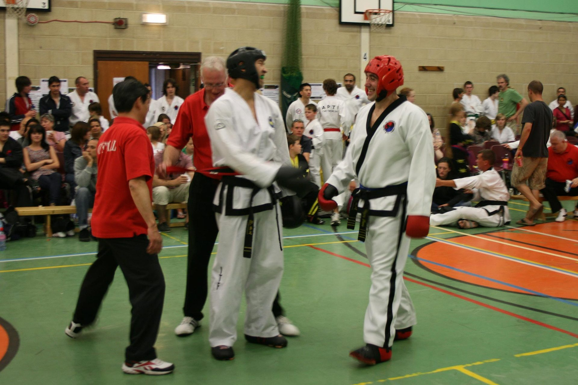 adult karate players