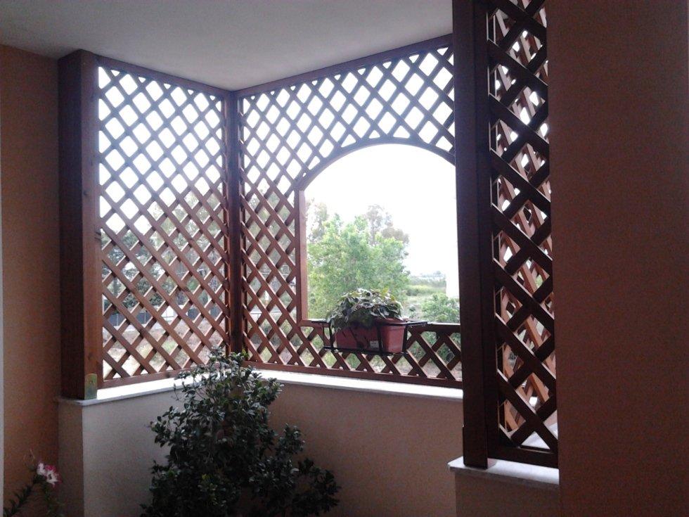 Vista interna della chiusura balconi