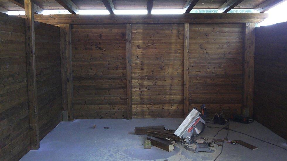 Vista interna del Garage