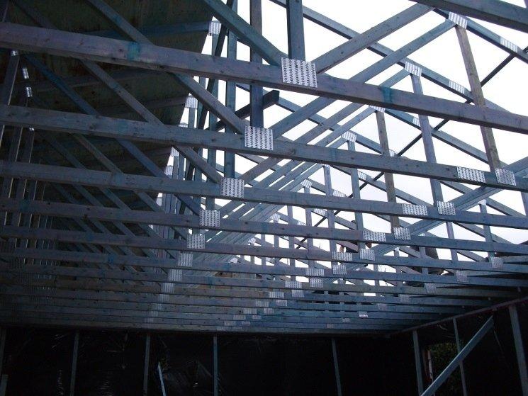 Struttura tetto abitazione