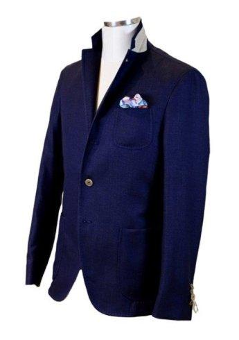 Giacca di stile scozzese in tonalità blu