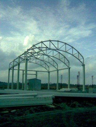 Struttura capannone in ferro