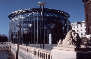 Large glass dome building which is Sunderland Museum