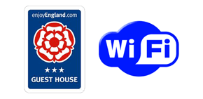 3-star English Tourist Board sign and Wi-Fi sign