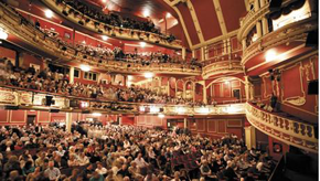 Inside of Edwardian Sunderland Empire theatre full of guests