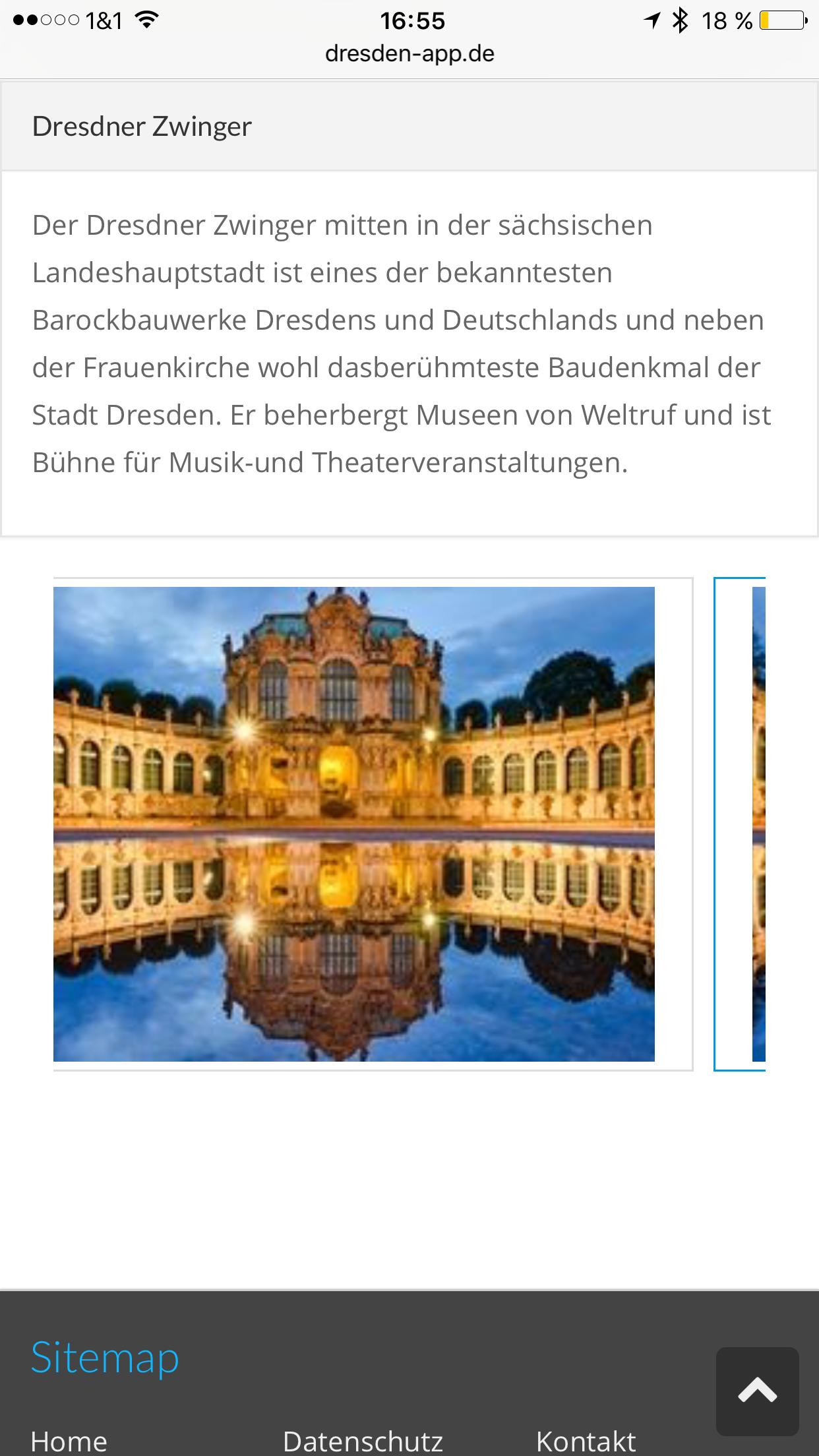 Dresden App - Sehenswürdigkeit mit Beschreibungen