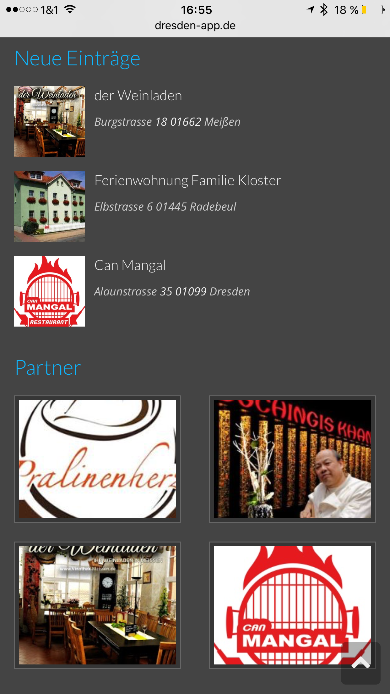Dresden App - Footer