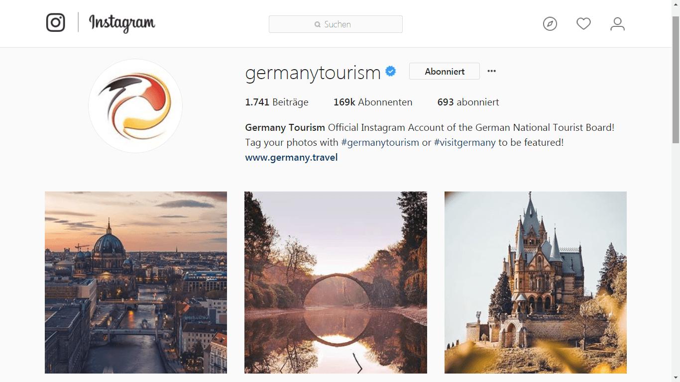 Germany Tourism in Instagram