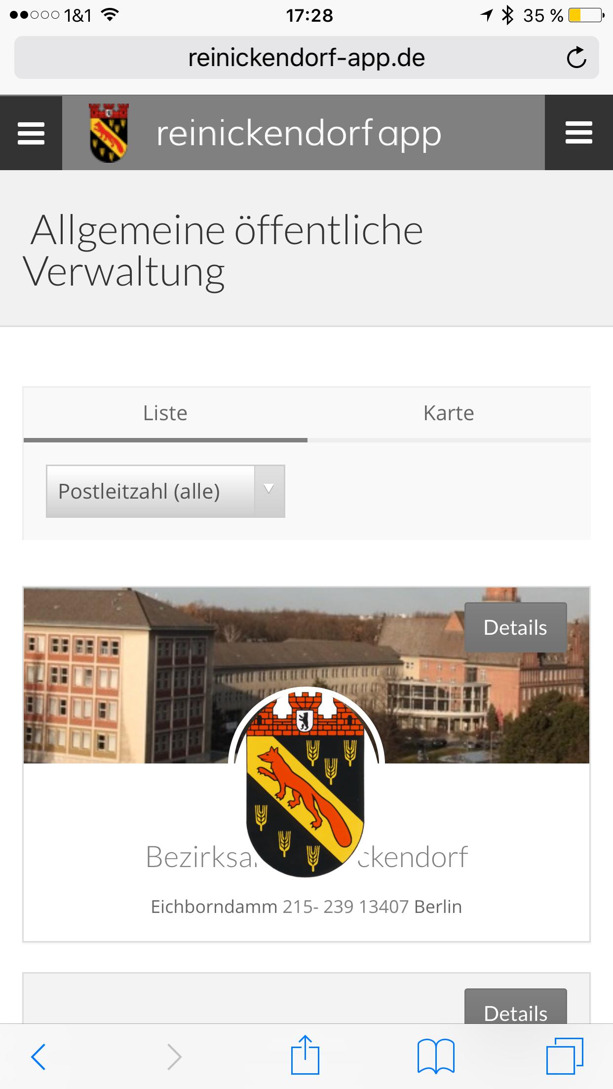 Reinickendorf App - Verwaltung