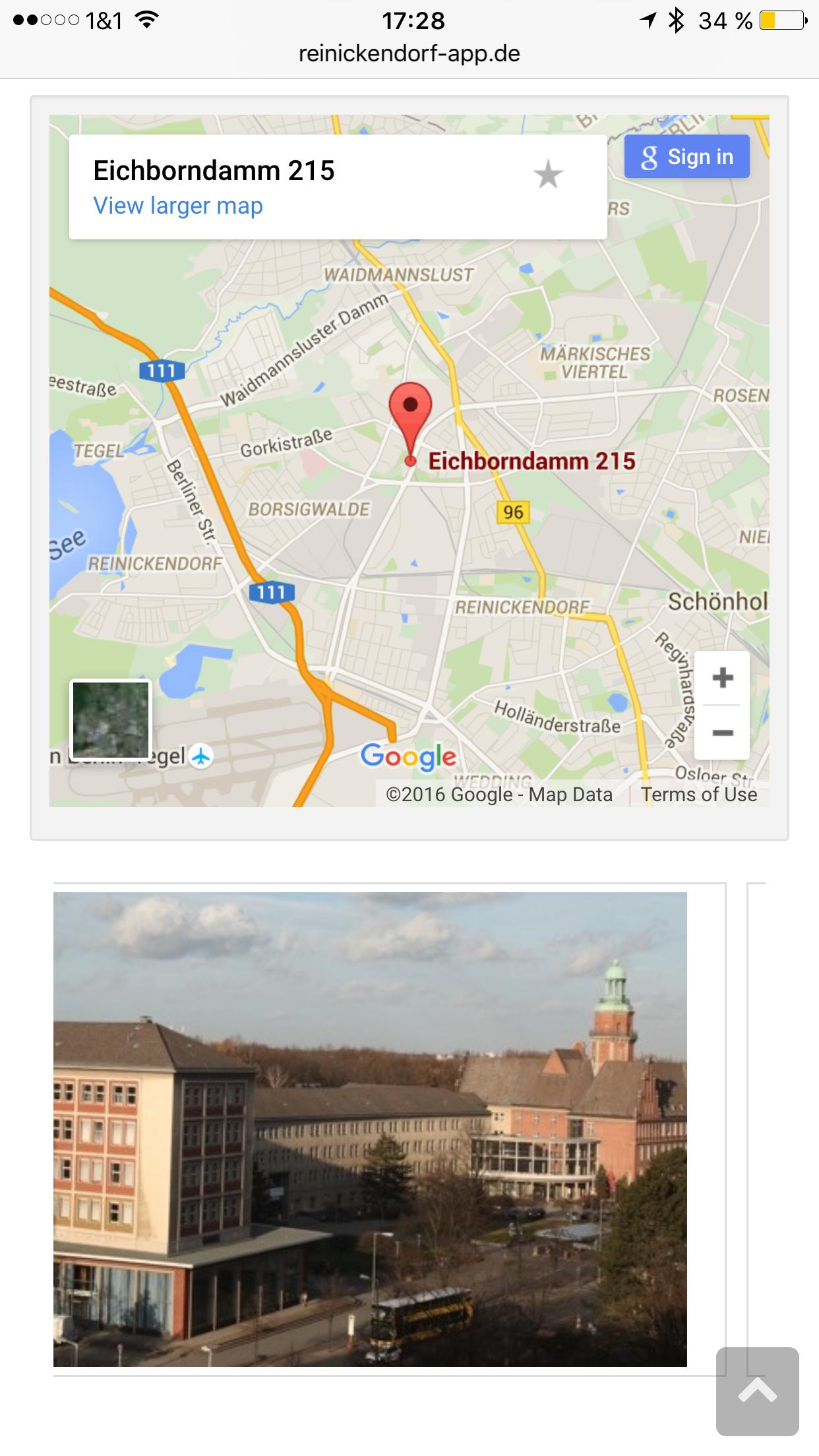 Reinickendorf App - Karte und Bilder