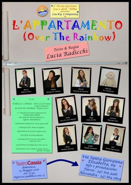 spettacolo teatrale intitolato l`APPARTAMENTO (Over the rainbow)