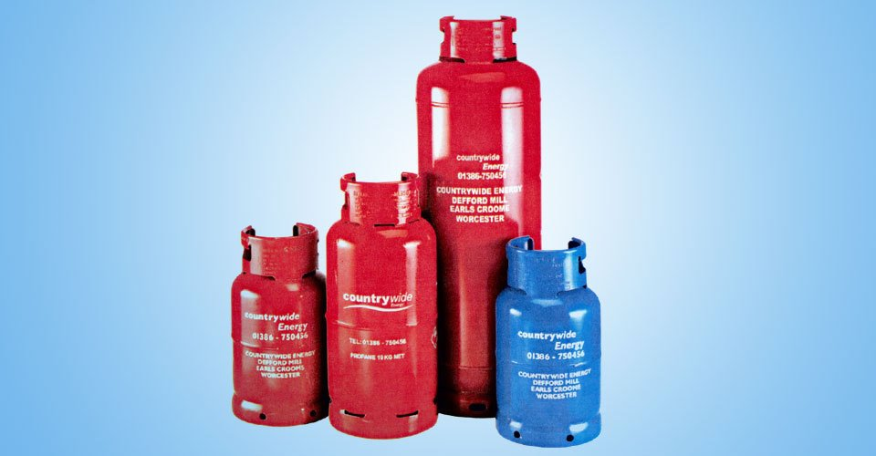 red and blue gas