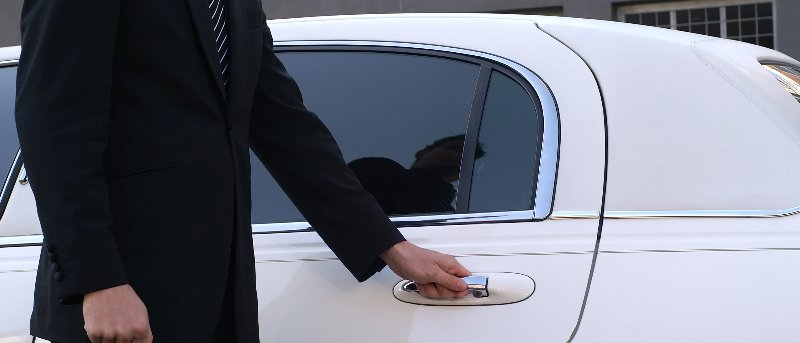 bayview chauffeured limousines decorated with flowers
