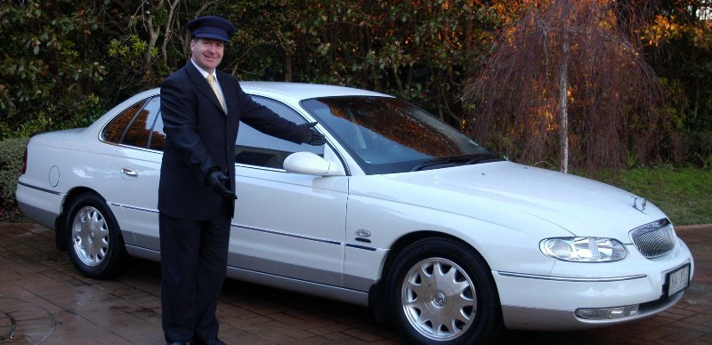 A corporate car hire employee on the Mornington Peninsula