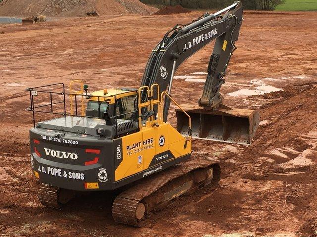 Excavator doing groundwork