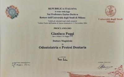 Laurea magistrale odontoiatria dr. Gianluca Poggi