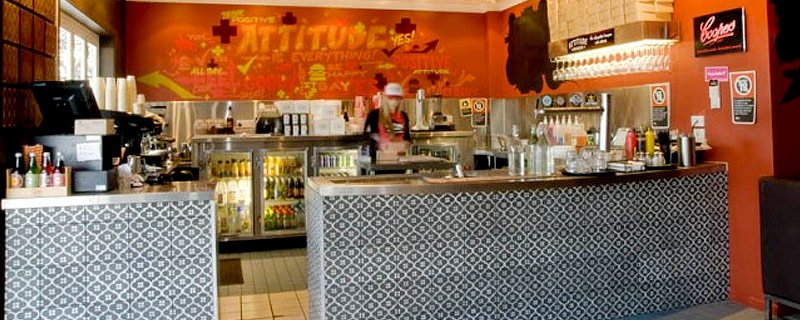bar of a cafe