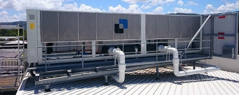 cex chiller replacement on rooftop