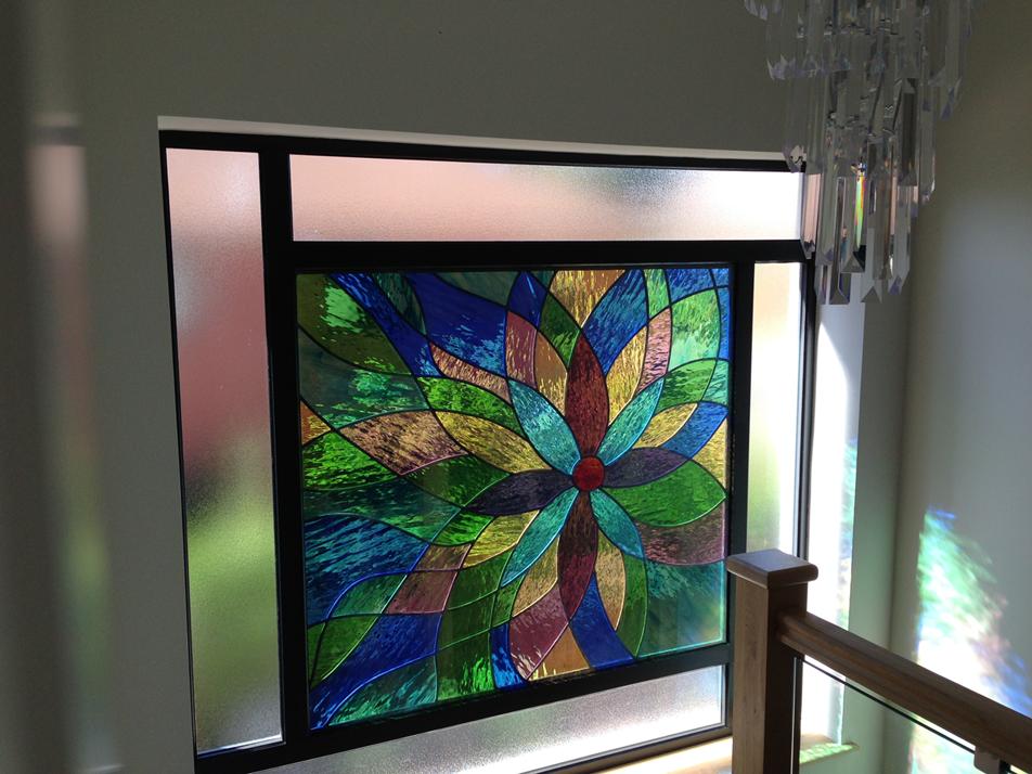 wooden framed glass