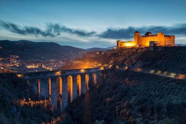 Tower bridge in Spoleto