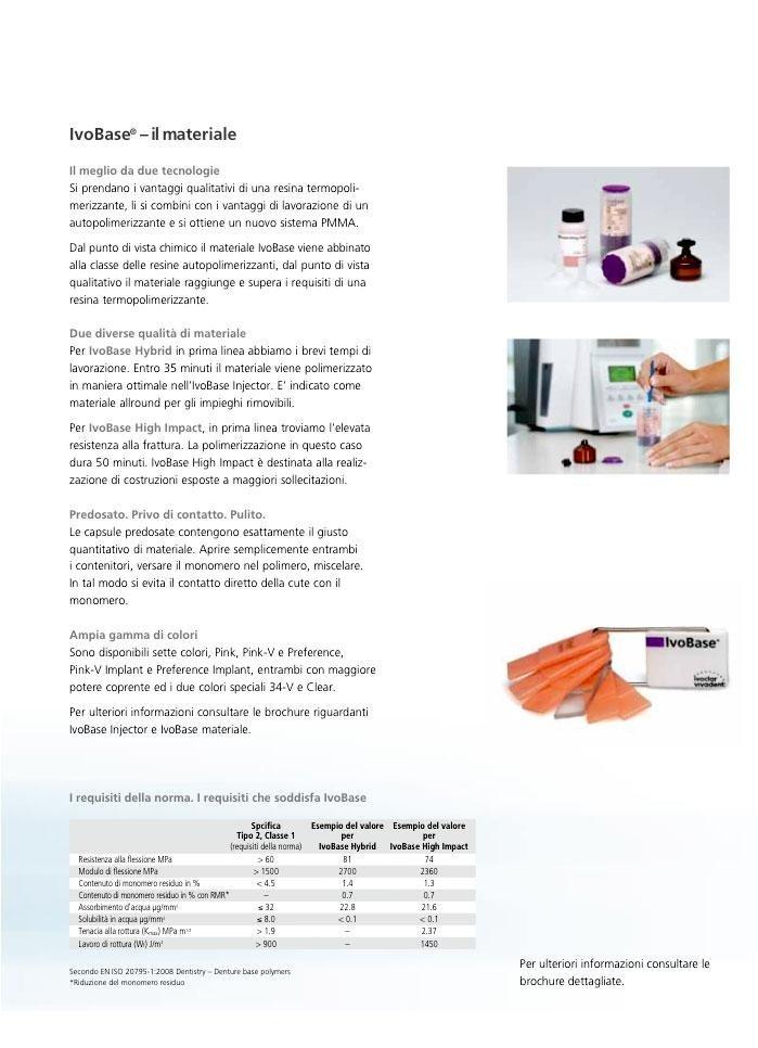 sistema ivobase system per protesi dentarie