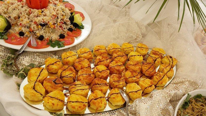 insalata di riso e bignè