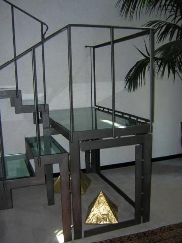 Strutture di scale in metallo
