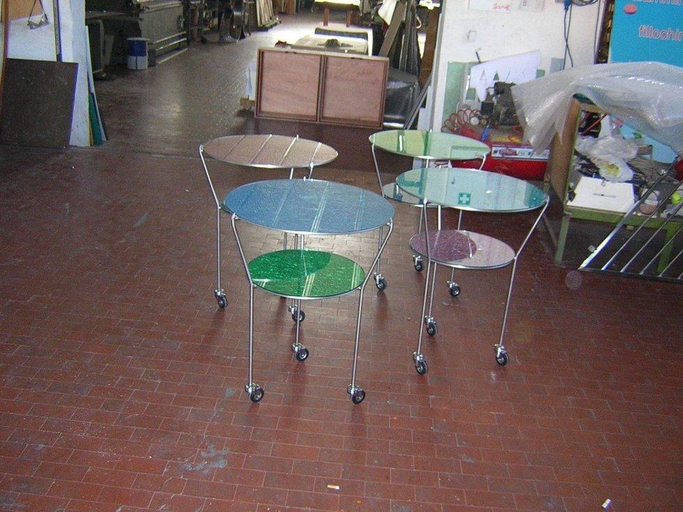 Tavolinetti in acciaio inox